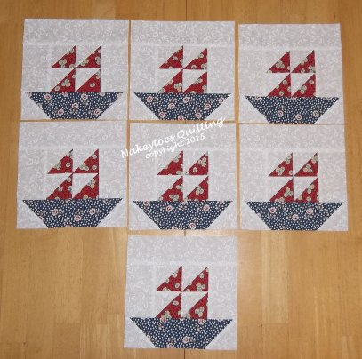 fishing boat quilt block