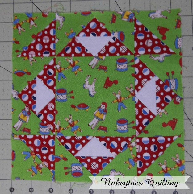 Grandmother's Favorite quilt block from the Farmer's Wife Pony Club Sampler book