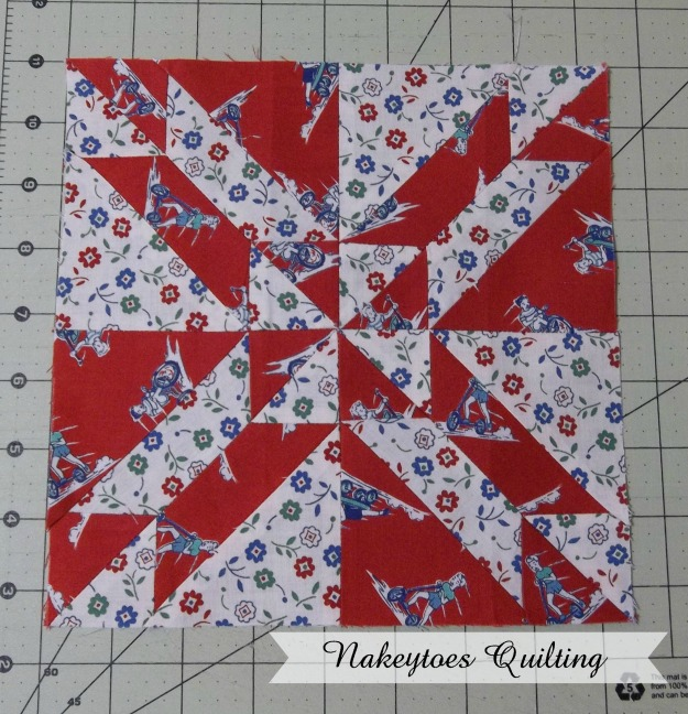 Gretchen quilt block from the Farmer's Wife Pony Club Sampler book
